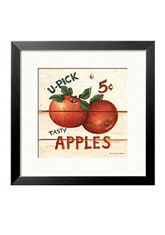 Art.com U-Picked Apples, Five Cents Framed Art Print - Online Only