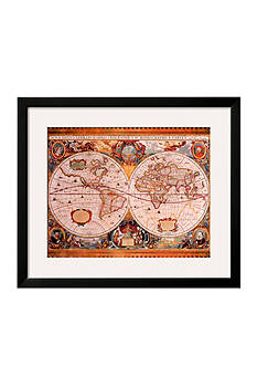 Art.com Antique Map, Geographica, c. 1630 Frame Art - Online Only