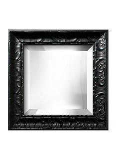 Art.com 17-in. W x 17-in. H Michelangelo Black Wood Framed Mirror - Online Only