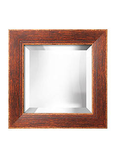 Art.com 17-in. W x 17-in. H Highland Brown Wood Framed Mirror - Online Only