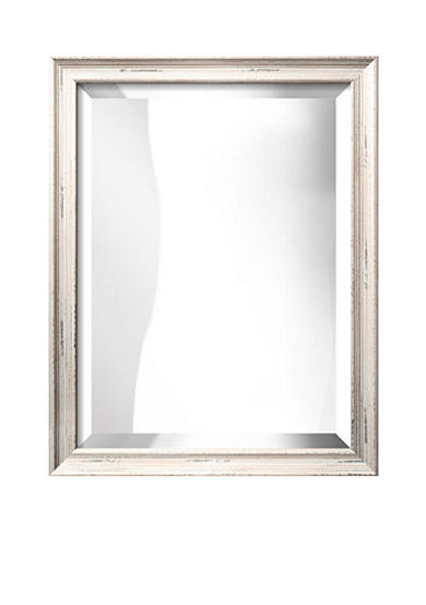 Art.com 22-in. W x 28-in. H Nantucket White Wood Framed Mirror - Online Only