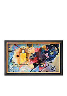 Art.com Yellow, Red, Blue 1925 Framed Art Print - Online Only