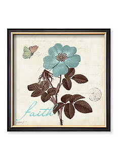 Art.com Touch of Blue II, Faith Framed Art Print