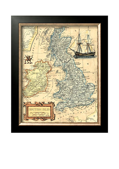 Art.com British Isles Map Framed Art Print - Online Only