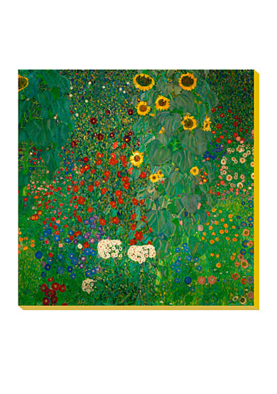 Art.com Farm Garden with Sunflowers, c.1912, Stretched Canvas Print, - Online Only