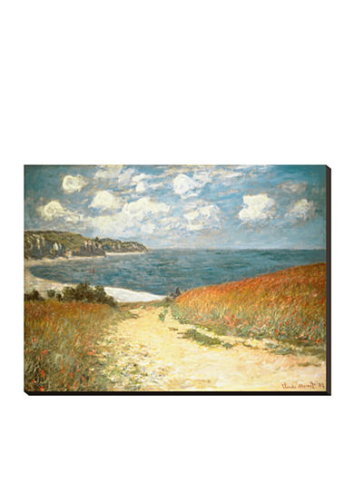 Art.com Path Through the Corn at Pourville, c.1882, Stretched Canvas Print, - Online Only