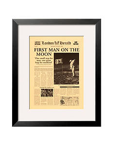 Art.com First Man on the Moon Framed Art Print - Online Only