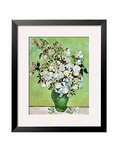 Art.com A Vase of Roses, c.1890 Framed Art Print