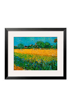 Art.com View of Arles with Irises Framed Art Print - Online Only