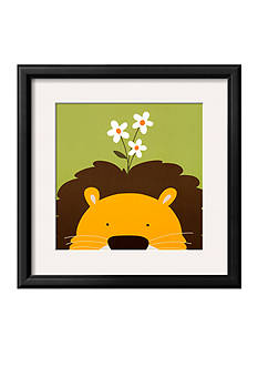Art.com Peek-a-Boo IX, Lion Framed Art Print - Online Only