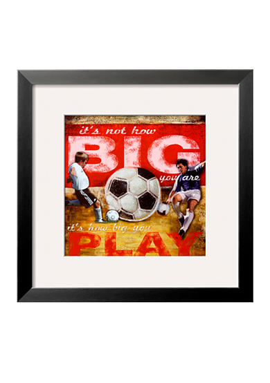 Art.com Big Play: Soccer Framed Art Print - Online Only