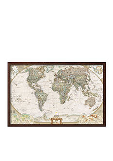 Art.com World Political Map, Executive Style Framed Art Print - Online Only