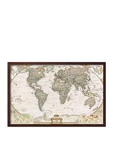 Art.com World Political Map, Executive Style Framed Art Print - Online Only