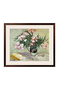 Art.com Vase with Oleanders and Books, c.1888 Framed Giclee Print Online Only