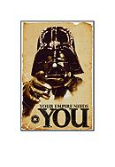 Art.com STAR WARS - Empire Needs You, Wood Mount,