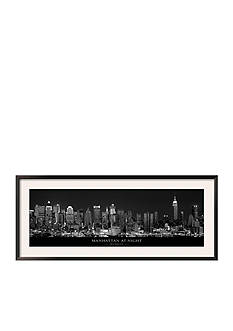 Art.com Manhattan at Night, New York City, Framed Art Print - Online Only