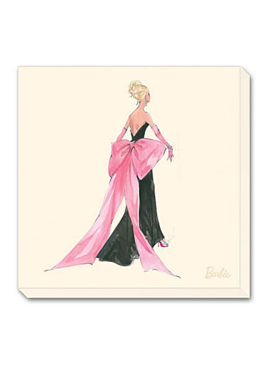 Art.com Barbie® Big Pink Bow Stretched Canvas Print - Online Only
