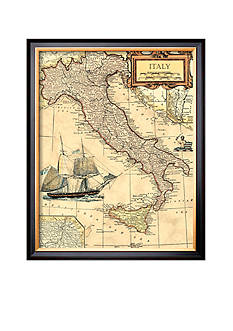 Art.com Italy Map Framed Giclee Print - Online Only