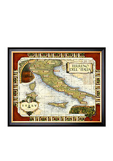 Art.com Wine Map of Italy Framed Giclee Print Online Only