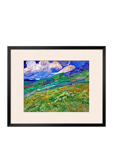 Art.com Wheatfield and Mountains, c.1889 Framed Giclee Print  Online Only