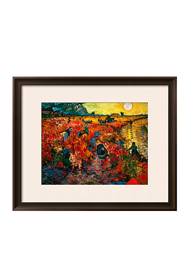 Art.com The Red Vineyard at Arles, c.1888 Framed Giclee Print  Online Only