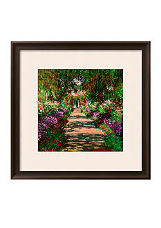 Art.com A Pathway in Monet's Garden, Giverny, 1902 Framed Giclee Print - Online Only