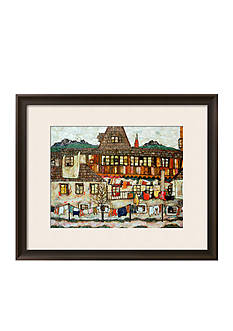 Art.com House with Drying Laundry, 1917 Framed Giclee Print Online Only