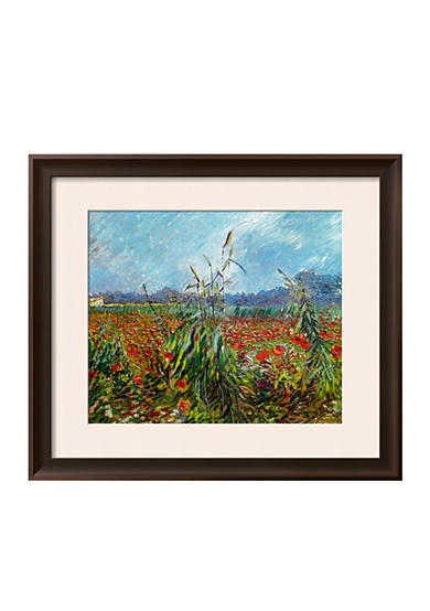Art.com Field with Poppies Framed Giclee Print  Online Only
