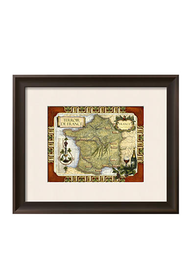 Art.com Wine Map of France Framed Art Print  Online Only