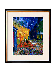Art.com The Caf Terrace on the Place du Forum, Arles, at Night, c.1888, Framed Giclee Print, - Online Only