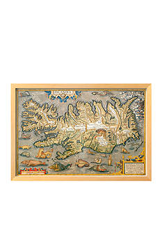 Art.com Map of Iceland Framed Giclee Print - Online Only