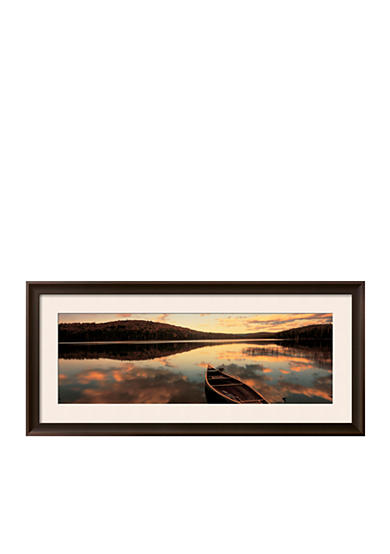 Art.com Water and Boat, Maine, New Hampshire Border, USA Framed Photographic Print  Online Only