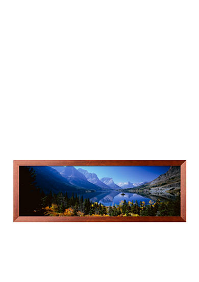 Art.com Mountains Reflected In Lake, Glacier National Park, Montana, USA Framed Photographic Print - Online Only
