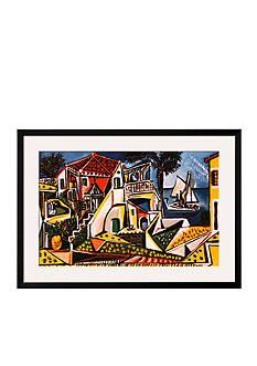 Art.com Mediterranean Landscape by Pablo Picasso, Framed Art Print