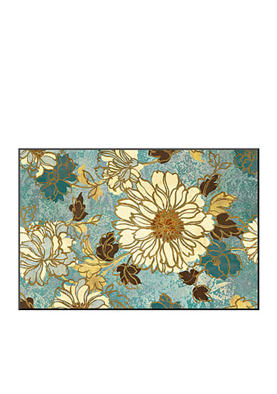 Art.com Sophia's Flowers Blue Mounted Print