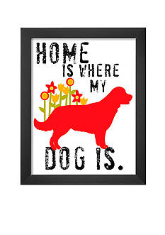 Art.com Home Is Where My Dog Is, Framed Art Print, - Online Only