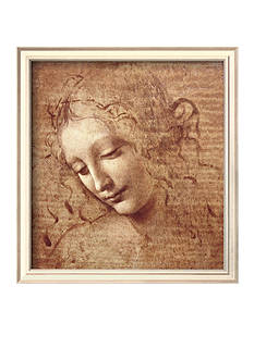 Art.com Female Head (La Scapigliata), c.1508, Framed Art Print, - Online Only