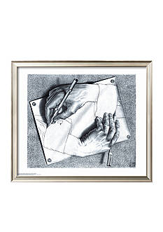 Art.com Drawing Hands, Framed Art Print, - Online Only