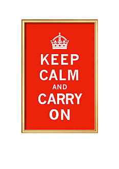 Art.com Keep Calm And Carry On Framed Art Print - Online Only