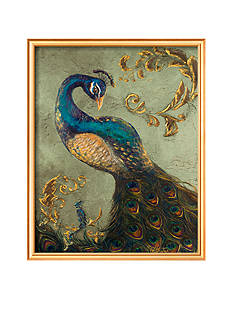 Art.com Peacock on Sage II Framed Art Print