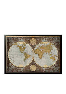 Art.com World Map, Framed Art Print, - Online Only