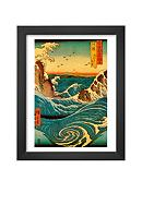 Art.com Navaro Rapids, c.1855, Framed Art Print,