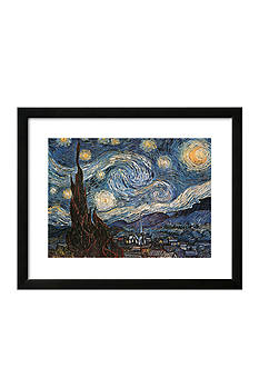 Art.com Starry Night, White Border, Framed Art Print - Online Only