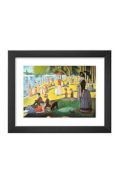 Art.com A Sunday on La Grande Jatte 1884, 1884-86, Framed Art Print, - Online Only