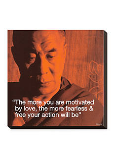 Art.com Dalai Lama: Fearless & Free, Stretched Canvas Print - Online Only