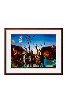 Art.com Swans Reflecting Elephants, c.1937, Framed Art Print - Online Only
