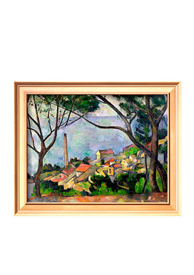 Art.com The Sea at L'Estaque, 1878, Framed Giclee Print - Online Only
