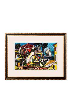 Art.com Mediterranean Landscape, Framed Art Print - Online Only