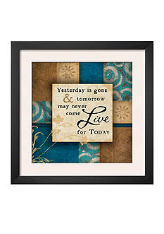 Art.com Live For Today, Framed Art Print, - Online Only