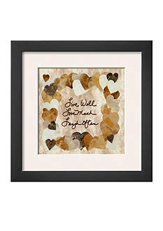 Art.com Live Well, Love Much, Laugh Often, Framed Art Print, - Online Only